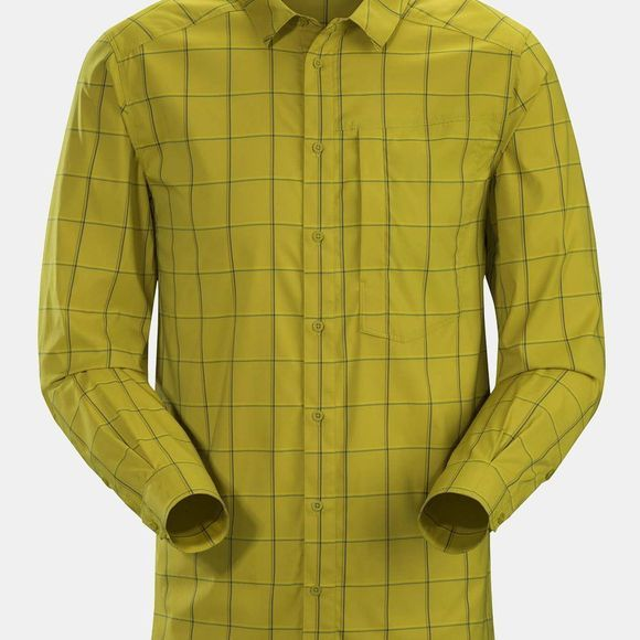 Arc'teryx Mens Riel Long Sleeve Shirt Yukon Gold