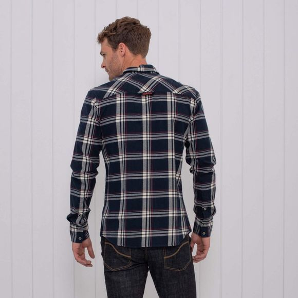 Brakeburn Mens Brushed Flannel Check Shirt Navy