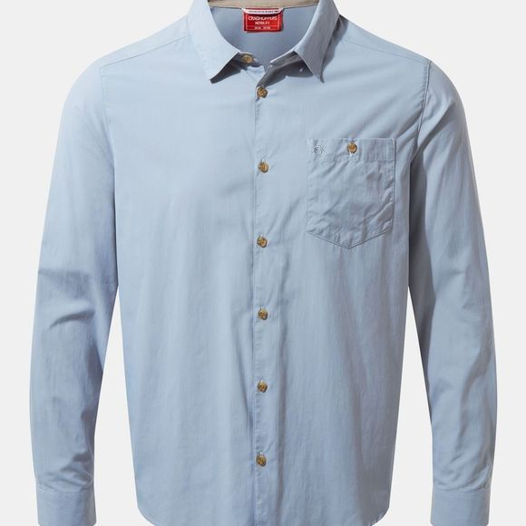Craghoppers Mens NosiLife Nuoro Long Sleeve Shirt Fogle Blue