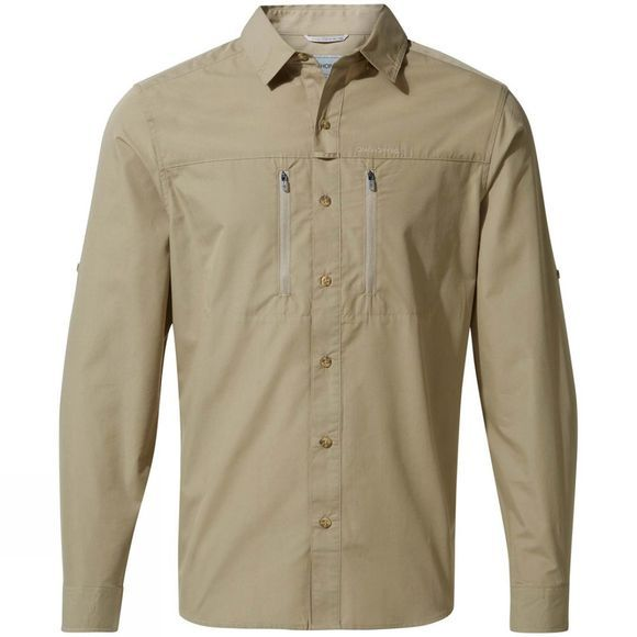 Craghoppers Mens Kiwi Boulder Long Sleeve Shirt Rubble