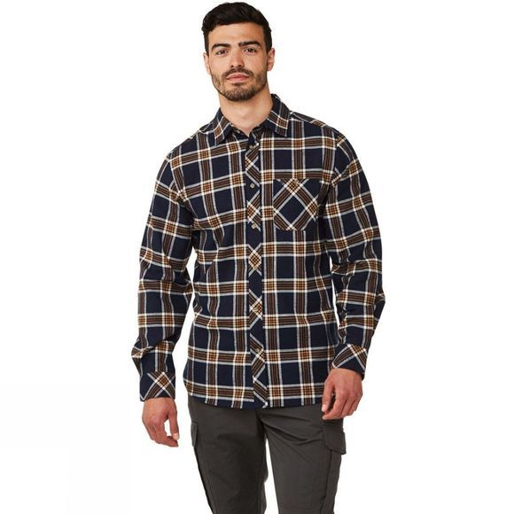 Craghoppers Mens Cogwheel Long Sleeve Shirt Blue Navy Check