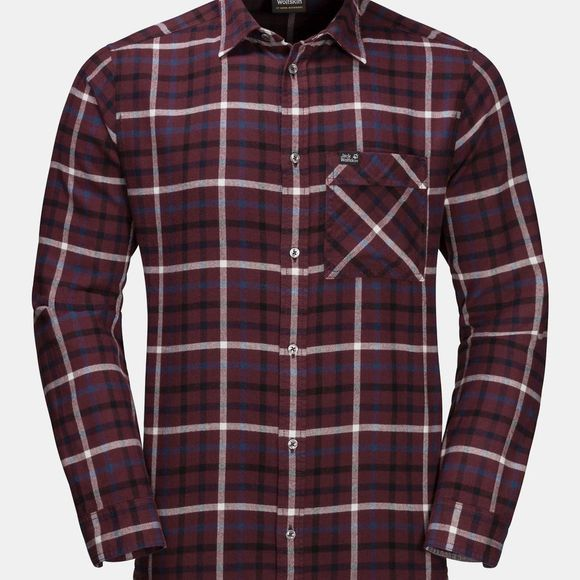 Jack Wolfskin Fraser Island Shirt Port Wine Check