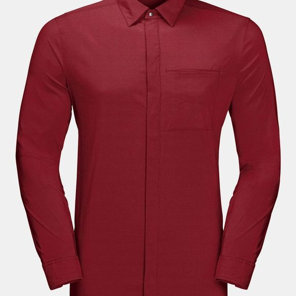 Jack Wolfskin JWP Long Sleeve Shirt Dark Lacquer Red