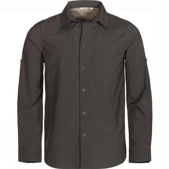 Ayacucho Mens Equator II Stretch Anti Mosquito Shirt Dark Grey