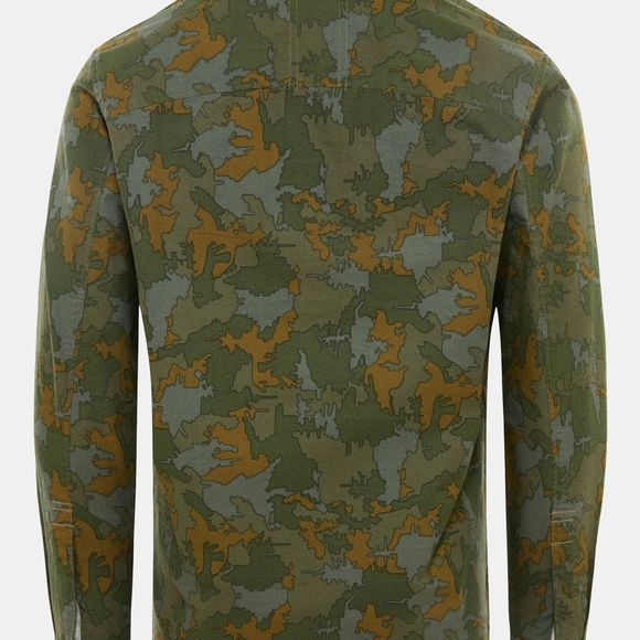 The North Face Mens Cartographer Shirt Burnt Olive Green Wildwood Print