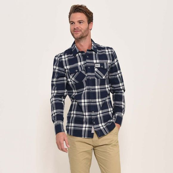 Brakeburn Men's Flannel Check Shirt Navy