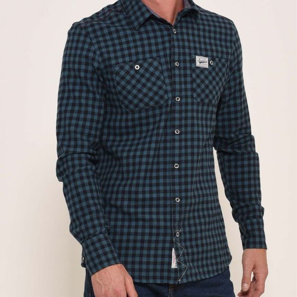 Brakeburn Flannel check shirt Blue