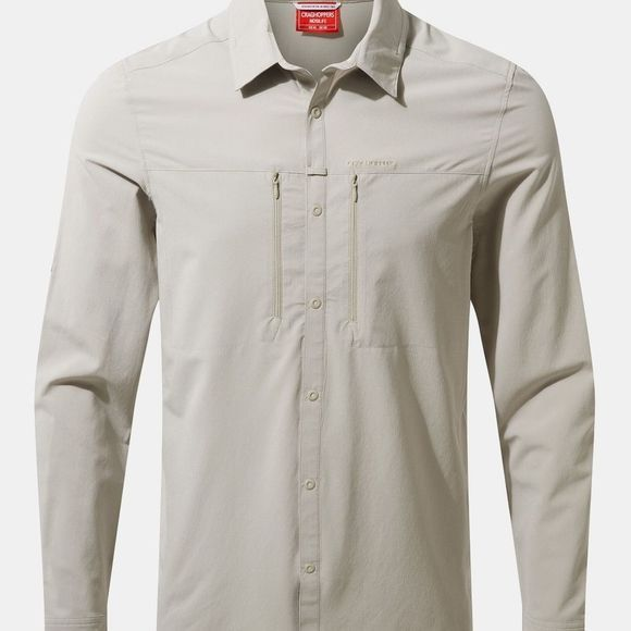 Craghoppers Mens NosiLife IV Long Sleeve Shirt Parchment