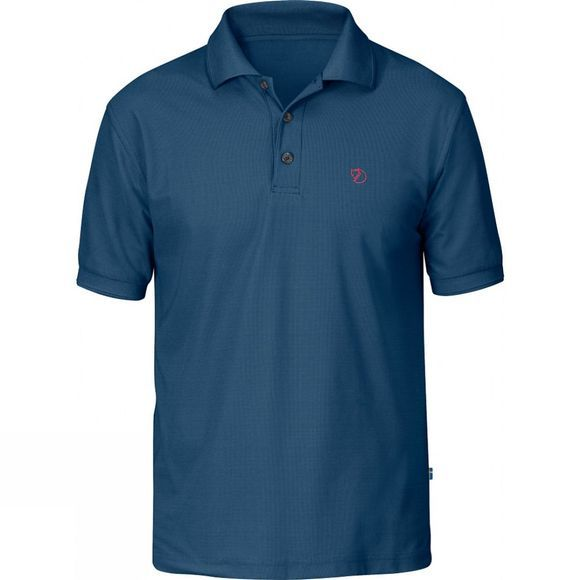 Fjallraven Mens Crowley Piqué Shirt Uncle Blue