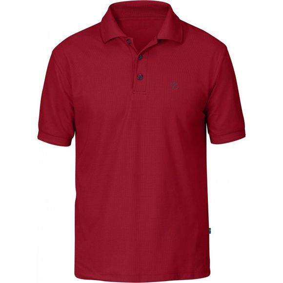 Fjallraven Mens Crowley Piqué Shirt Deep Red