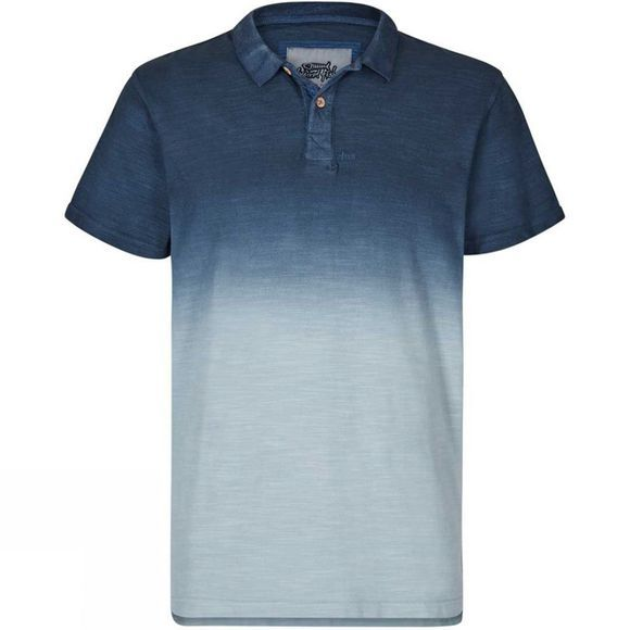 Weird Fish Mens Benator Polo Moonlight Blue