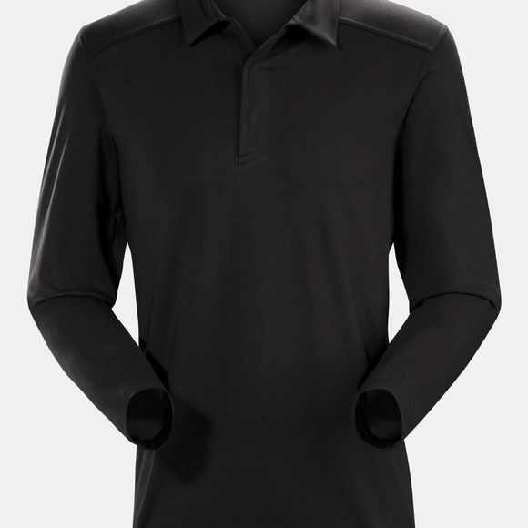 Arc'teryx Mens Captive Long Sleeve Polo Black/Black