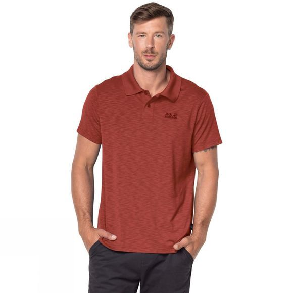 Jack Wolfskin Mens Travel Polo Mexican Pepper