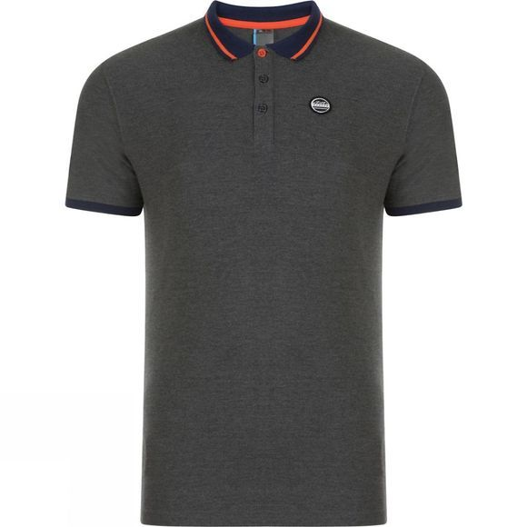Dare 2 b Mens Inundate Polo Charcoal Grey Marl