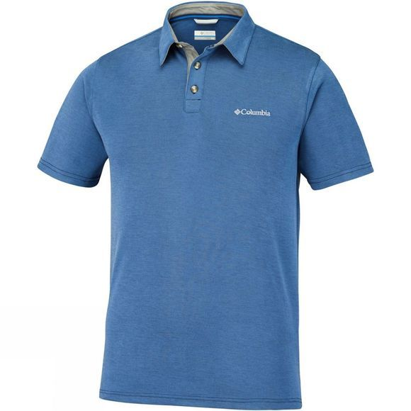 Columbia Mens Nelson Point Polo Super Blue