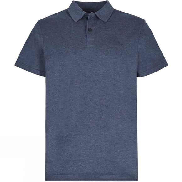 Weird Fish Mens Andy Marled Jersey Polo Shirt Maritime Blue Marl