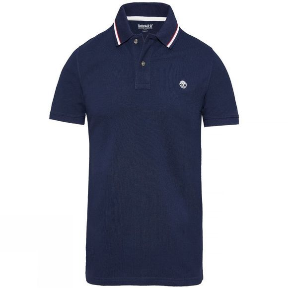 Timberland Mens Millers River Pique Polo Shirt Maritime Blue