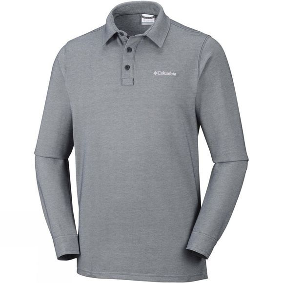 Columbia Mens Pilot Peak Long Sleeve Polo Shark