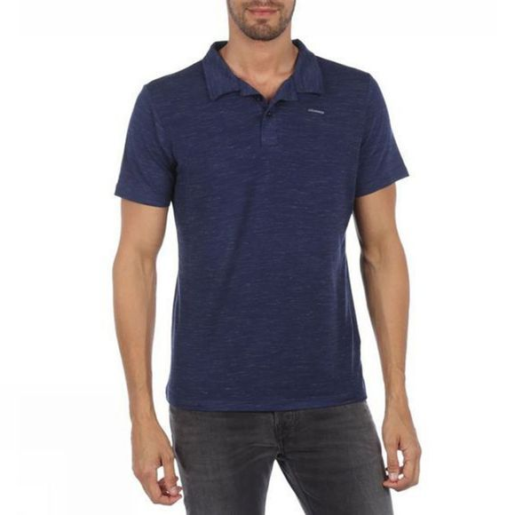 Ayacucho Mens Kibira AM Polo T-shirt Navy Melange