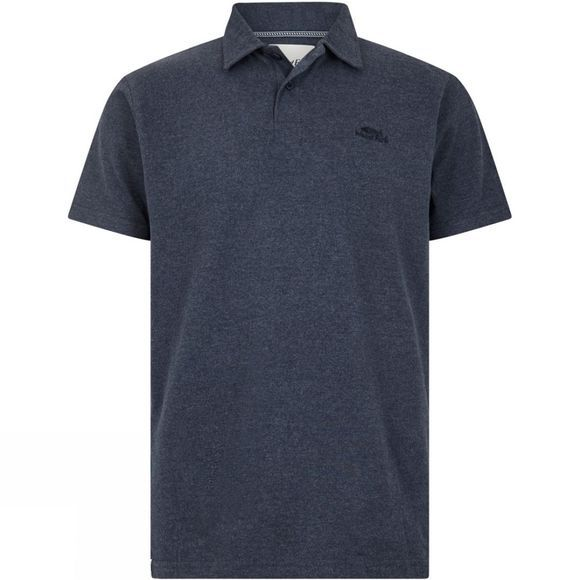 Weird Fish Mens Quay Short Sleeve Polo Shirt Navy Marl