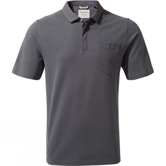 Craghoppers Mens Meran Short Sleeve Polo Ombre Blue