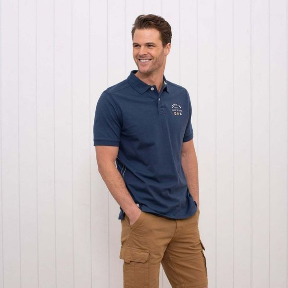 Brakeburn Men's Embroidered Polo Light Navy