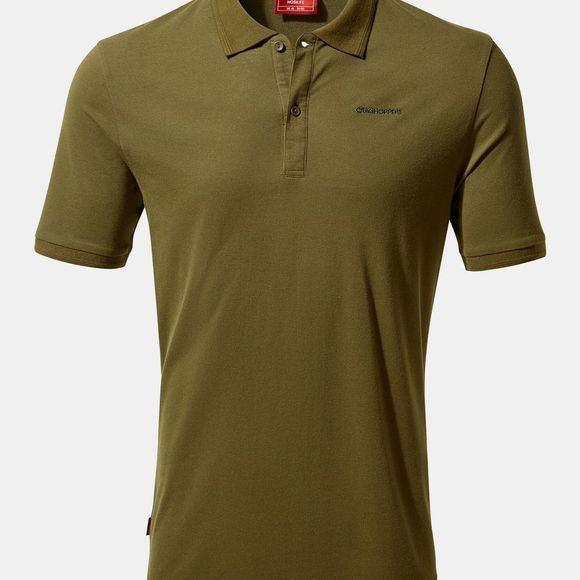 Craghoppers Mens Nosilife Mani Polo T-Shirt Dark Moss