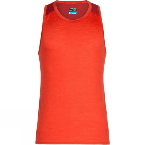 Icebreaker Mens Amplify Tank Chili Red / Sienna