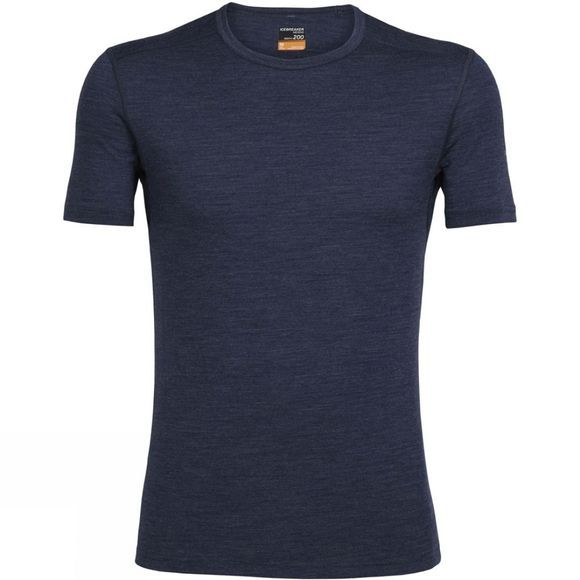 Icebreaker Mens Oasis Short Sleeve Crewe Fathom Heather