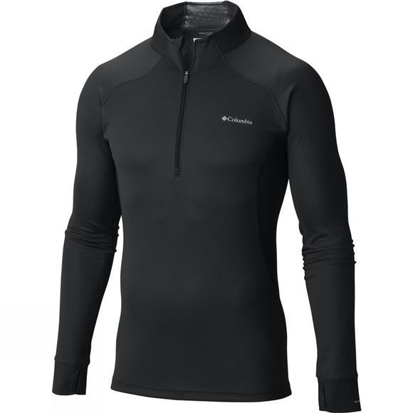 Columbia Mens Heavyweight II Long Sleeve 1/2 Zip Black