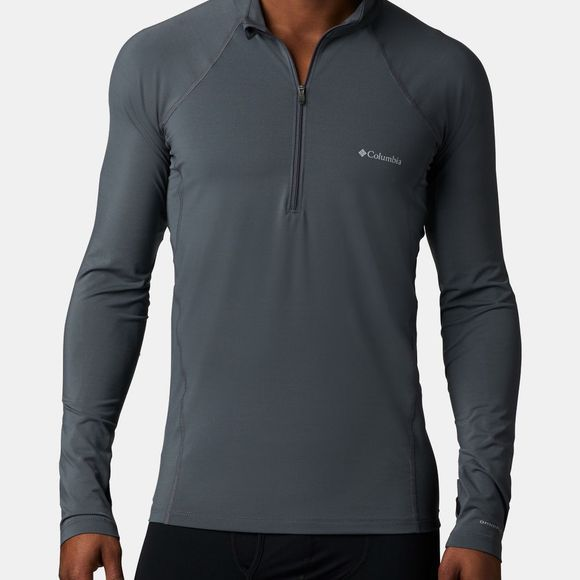 Columbia Mens Midweight Stretch Long Sleeve 1/2 Zip Graphite