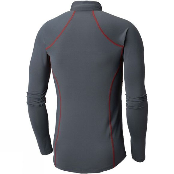 Columbia Mens Midweight Stretch Long Sleeve 1/2 Zip Graphite/ Red Spark