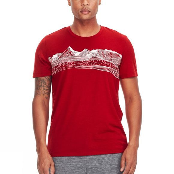 Icebreaker Mens Tech Lite Short Sleeve Crewe Oxblood
