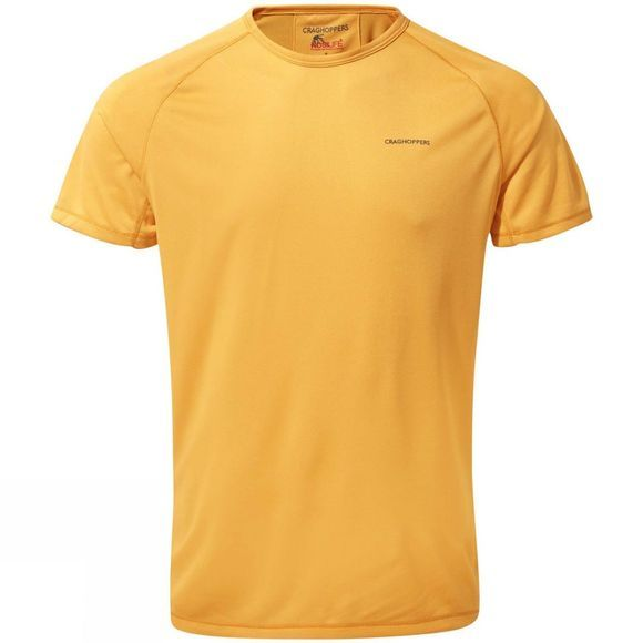 Craghoppers Mens NosiLife II Short-Sleeve Baselayer Tee Indian Yellow