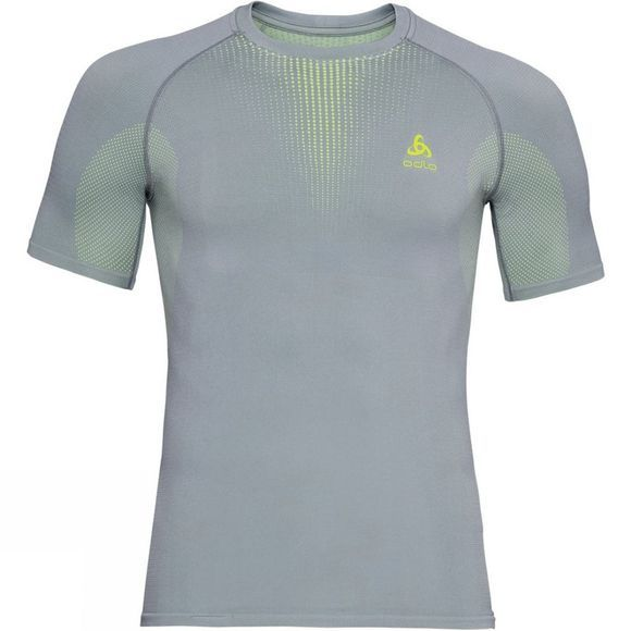 Odlo Mens Performance Warm Base Layer T-Shirt Tradewinds - Safety Yellow (Neon)