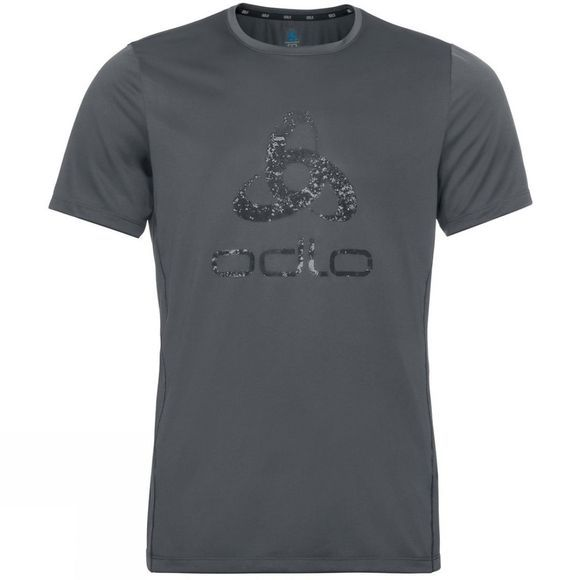 Odlo Mens Element Light Print T-Shirt Odlo Graphite Grey - Placed Print FW19