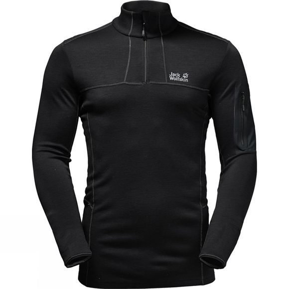Jack Wolfskin Mens Arctic Half Zip Top Black
