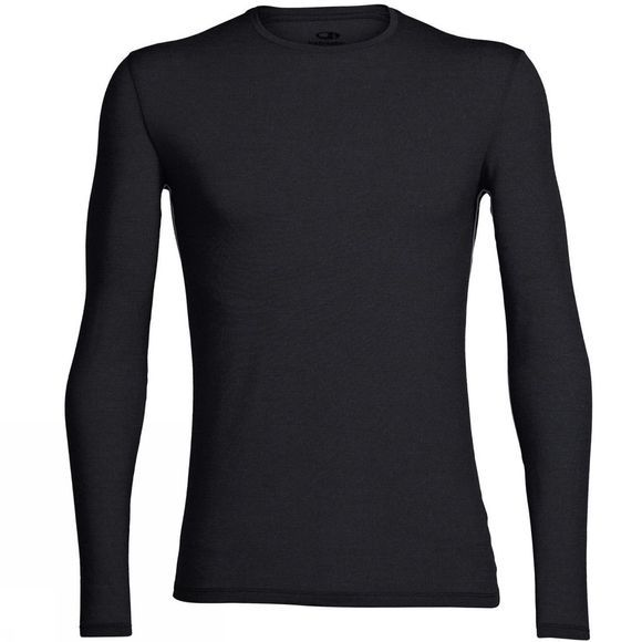Icebreaker Mens Anatomica Long Sleeve Crewe Black/Monsoon