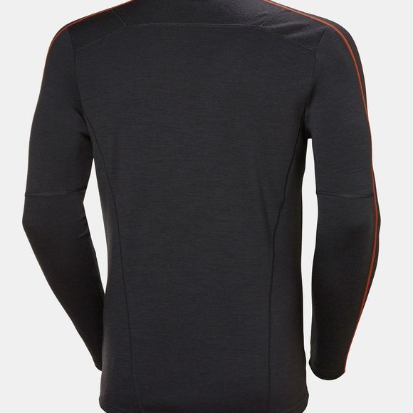 Helly Hansen Mens HH Lifa Merino Crew Top Ebony