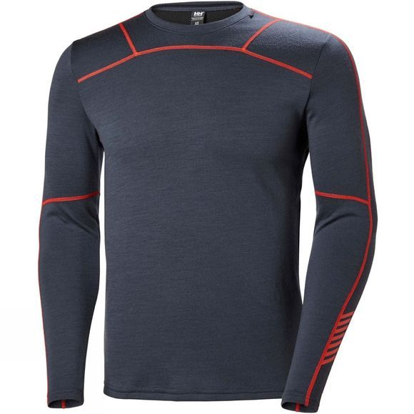 Helly Hansen Mens HH Lifa Merino Crew Top Graphite Blue