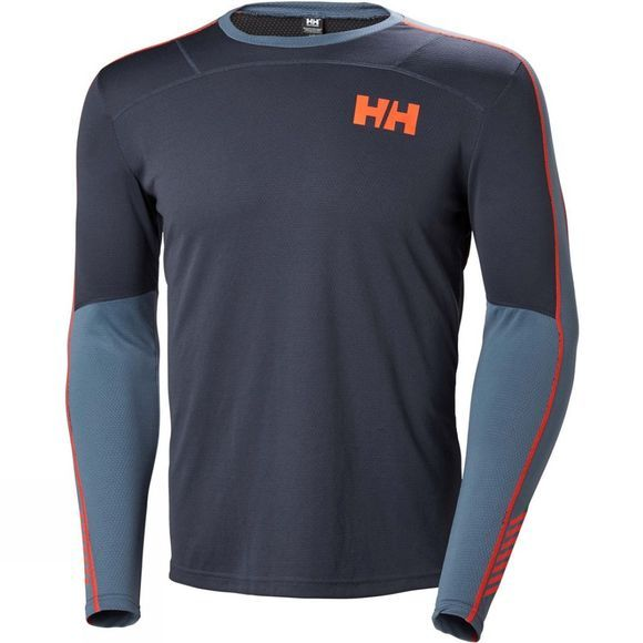 Helly Hansen Mens Lifa Active Long Sleeve Top Graphite Blue