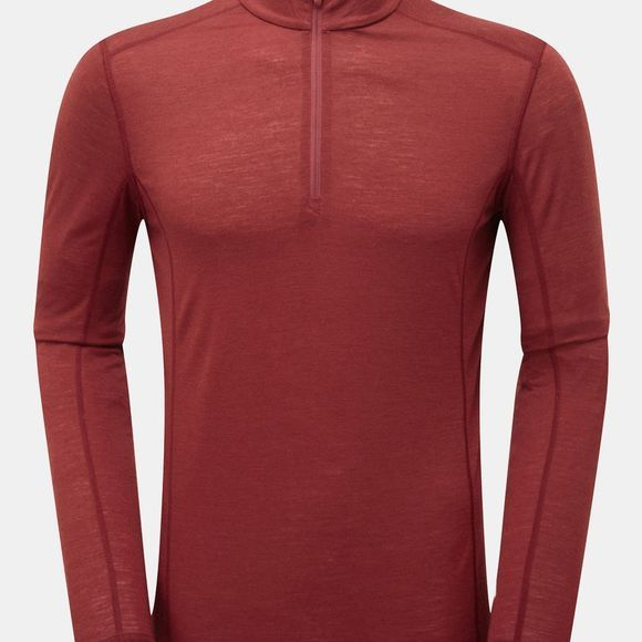 Montane Mens Primino 140 Zip Neck Top Redwood