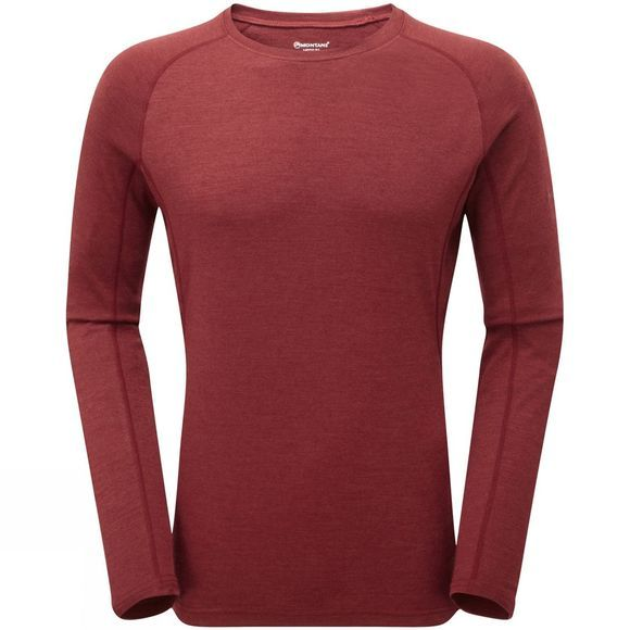Montane Mens Primino 220 Long Sleeve T-Shirt Redwood