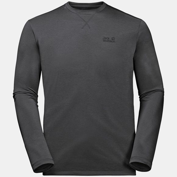 Jack Wolfskin Mens Crosstrail Long Sleeve Top Dark Steel