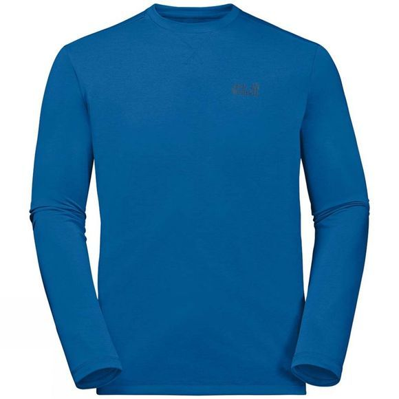 Jack Wolfskin Mens Crosstrail Long Sleeve Top Electric Blue