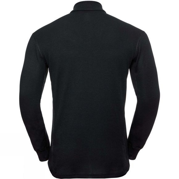 Odlo Mens Active Warm 1/2 Zip Turtle-Neck Long-Sleeve Base Layer Top Black