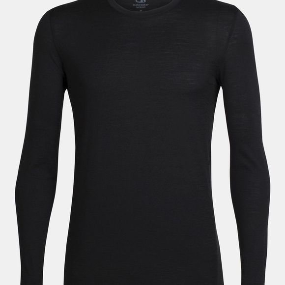 Icebreaker Mens Tech Lite LS Crew Top Black