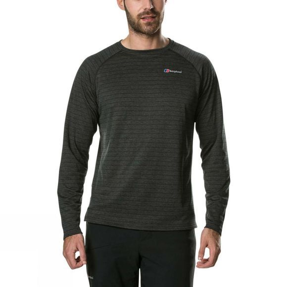 Berghaus Mens Thermal Tech Long Sleeve T-Shirt Black/Carbon