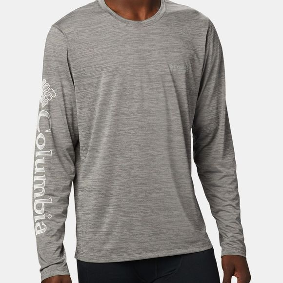 Columbia Mens Trinity Trail II Long Sleeve City Grey/ White