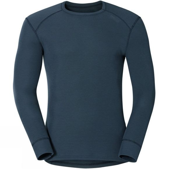 Odlo Mens Active Warm Long-Sleeve Base Layer Top India Ink
